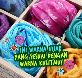 Ini Warna Hijab yang Sesuai dengan Warna Kulitmu!